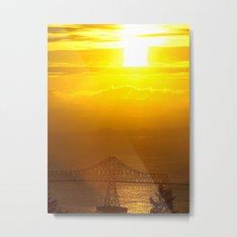 Astoria Oregon Sunset Metal Print