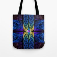 spiritual Tote Bags featuring Spiritual One by Lyle Hatch
