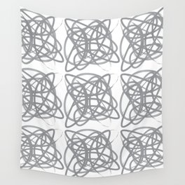 Curvy1Print Grey and White Wall Tapestry