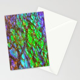 Peacock Ammolite Stationery Cards