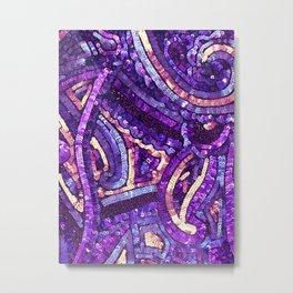 Peach Purple Periwinkle Sequin Metal Print