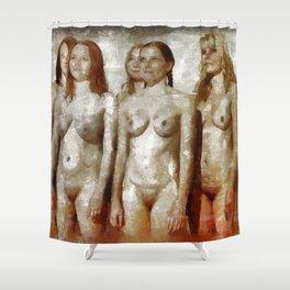 Nudist Girs by Mary Bassett Shower Curtain