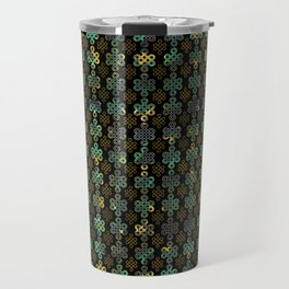 Endless Knot Pattern - Gold and Marble Travel Mug