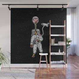 Giraffe astronaut Wall Mural
