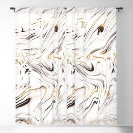 Liquid Gold Silver Black Marble #1 #decor #art #society6 Blackout Curtain