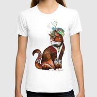 wizard T-shirts featuring Wizard Cat by Sandra Dieckmann