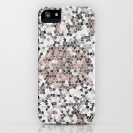 Star Shaped Patchwork in White, Pink And Black iPhone Case