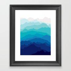Blue Mist Mountains Framed Art Print