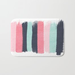 Cecily - abstract paint brush strokes paintbrush brushstrokes boho chic trendy modern minimal  Bath Mat