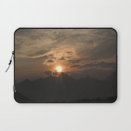 Sunset behind the Grand Tetons Laptop Sleeve