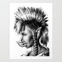 warcraft Art Prints featuring Punk Troll by Georgia Goddard