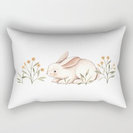 Blossom Bunny Rectangular Pillow