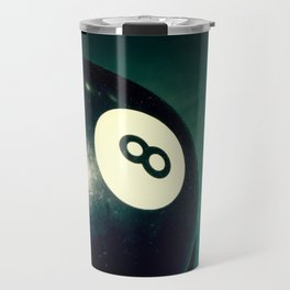 Eight Ball-Teal Travel Mug