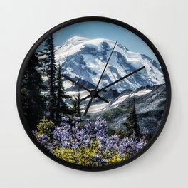 Scenic Art, Mt. Rainier, Mt. Rainier National Park, Spray Park Wall Clock