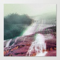 glitch Canvas Prints featuring Glitch by DefaultModeNetwork