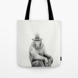 Macaca nigra / Black Crested Macaque Tote Bag