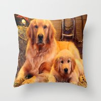 mom Throw Pillows featuring Mom by Robin Curtiss