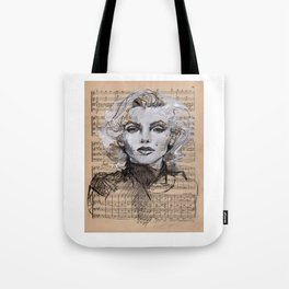 Monroe Music Sheet Tote Bag