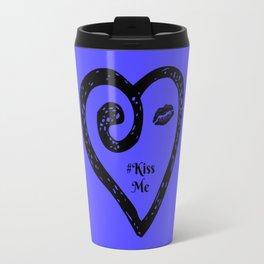 Kiss Me - Periwinkle Travel Mug