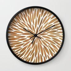 Rose Gold Burst Wall Clock