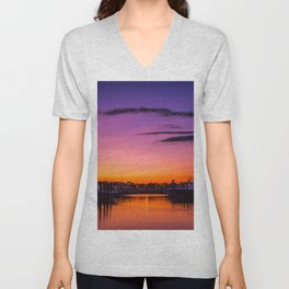 Ocean City, Maryland Sunset Unisex V-Neck