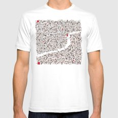 mapping home SMALL White Mens Fitted Tee