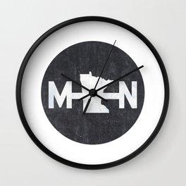 Minnesota Logo MN Wall Clock