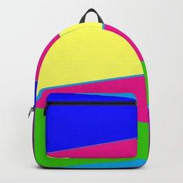 Bright Color Triangles, Pretty Colorful Colorblock Art, Graphic Art Backpack