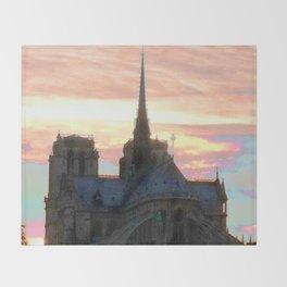 Notre Dame de Paris Throw Blanket