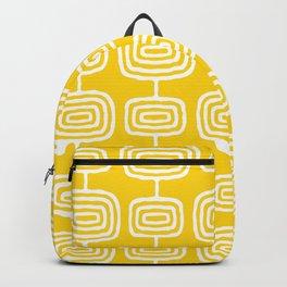 Mid Century Modern Atomic Rings Pattern Yellow Backpack