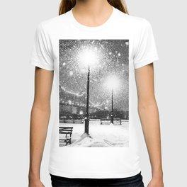 New York City Night Snow T-shirt