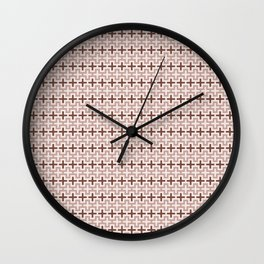 Guarda Pampa Pattern: Crosses in Lines & Outlines Wall Clock