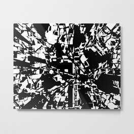 3d Ink Web Metal Print