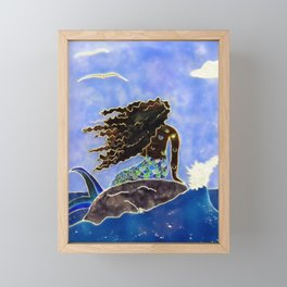 Lady of the Atlantic Crossing Framed Mini Art Print