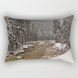 Wintry Sava River At Vrata Valley Rectangular Pillow
