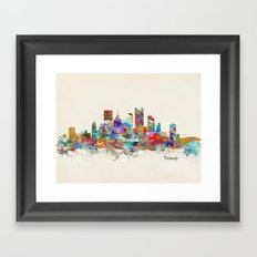 Pittsburgh Pennsylvania skyline Framed Art Print