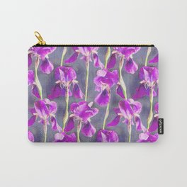 Simple Iris Pattern in Warm Magenta Carry-All Pouch