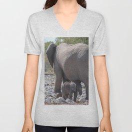 Elephant Love 6 Unisex V-Neck