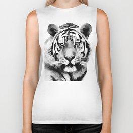 Tiger Black and white Biker Tank