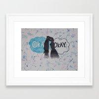 okay Framed Art Prints featuring Okay.  by Oksana's Art