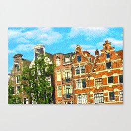 Amsterdam facades Canvas Print