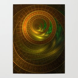 Inside the Boundless Cornucopia of an Endless Fractal Autumn Poster
