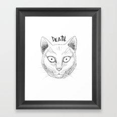 DEATH. (White) Framed Art Print