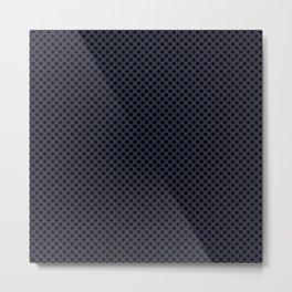 Peacoat and Black Polka Dots Metal Print