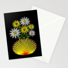String Art Flowers Stationery Cards