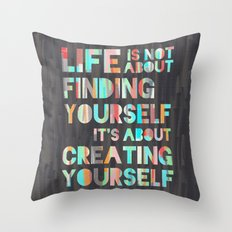 Create Yourself Throw Pillow