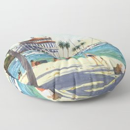 Avalon, Catalina Island Floor Pillow