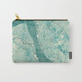Liverpool Map Blue Vintage Carry-All Pouch