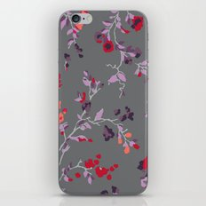 floral vines - dark grey and lilacs iPhone & iPod Skin