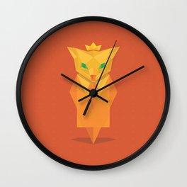 Golden Fox Wall Clock